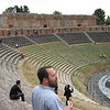 Surveying the amphitheatre