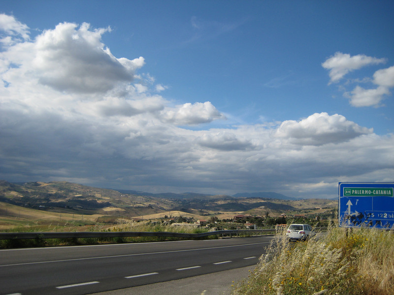 Looking NW from the autostrada S640