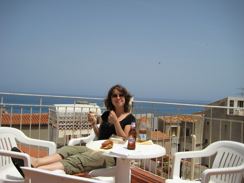 Lunch on the terrace at hotel la Giara