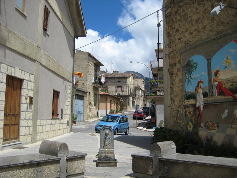 Castellana Sicula - there are murals all through town