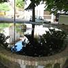 Castellana Sicula: fountain in a small park