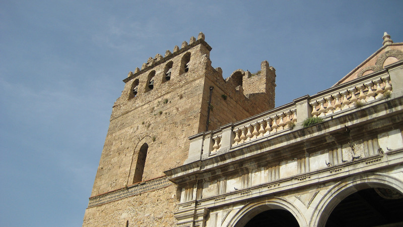 """Monreale: Norman cathedral (c. 1174) with spectacular Byzantine-style mosaics, overlooking Palermo. Check the link for a shot of the interior<br /> <a href=""""http://www.pbase.com/bernal1/image/64133696"""">http://www.pbase.com/bernal1/image/64133696</a> edit"""