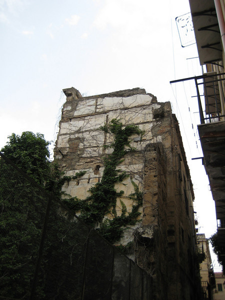 Another building damaged during the 1943 Allied invasion, Capo Quarter