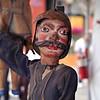 A vintage Sicilian puppet, part of a special collection that is displayed annually at the Sicilian Festival