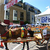 The traditional painted Sicilian cart, the Carretta Siciliana, is featured at the Sicilian Festival.
