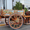 "The traditional painted Sicilian carriage, ""Carretta Siciliana"" is the focal point of the Sicilian Festival Cultural area."