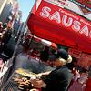 Tarantino's sausage booth