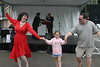 Dancing with Giovanna with the Roman Holiday ensemble was the high point of this little girl's visit to the Sicilian Festival.