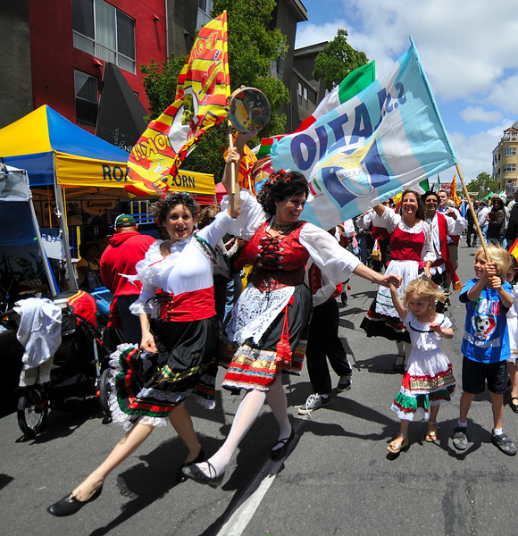 Entertainment, Dancers in Flag Procession