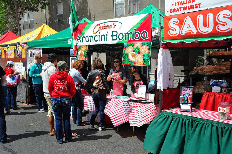Food, Arancini & Sausage Booths