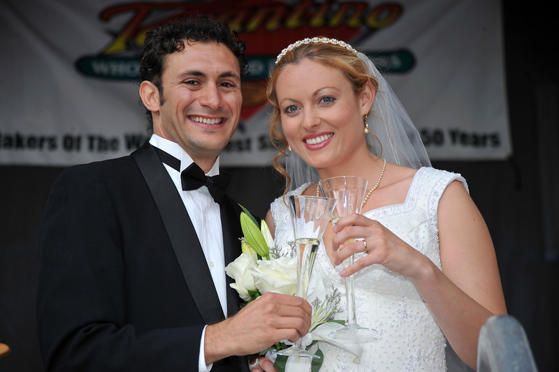 Sicilian Wedding, Happy Couple Toast