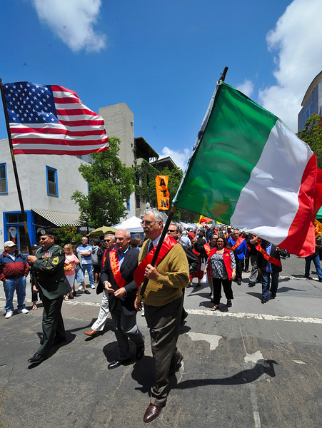 Entertainment, US & Italian Flag Parade