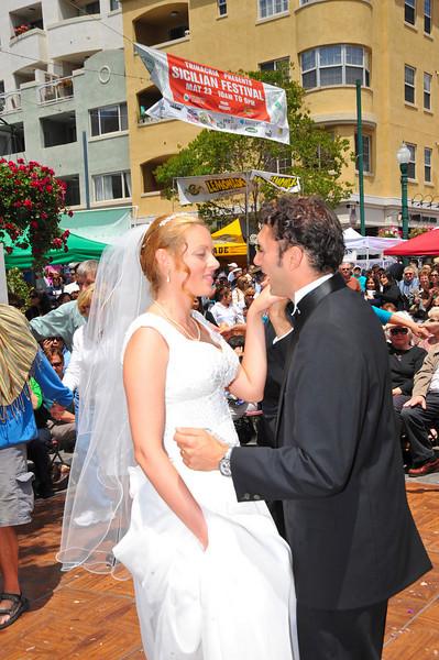 Sicilian Wedding, Couple Dancing First Dance