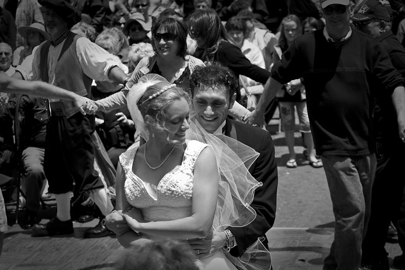 Tony & Diana Tripoli's wedding at the Sicilian Festival in Little Italy.