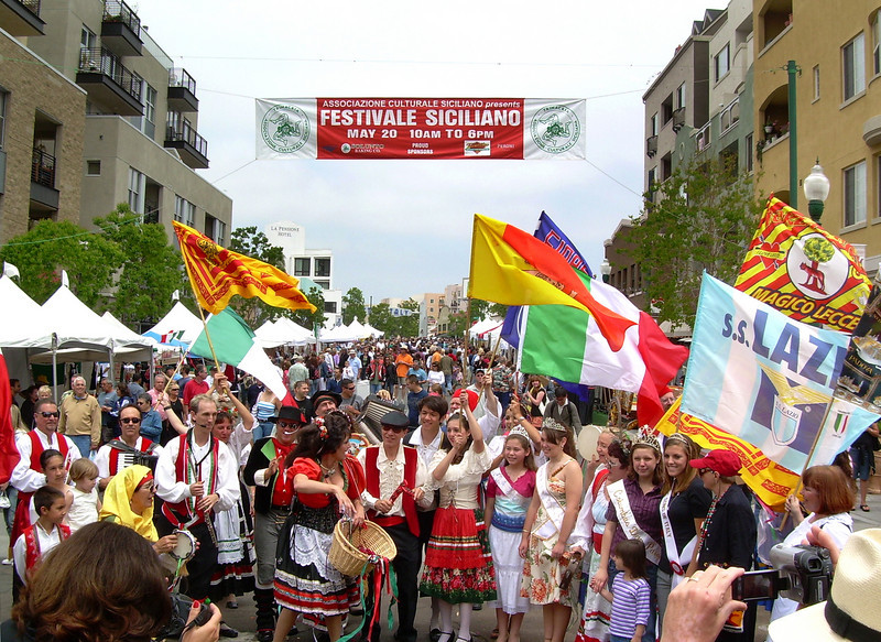 There are always plenty of colorful photo opps at San Diego's Sicilian Festival.