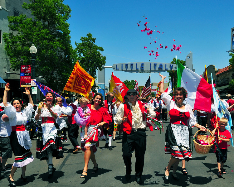A flower toss, dancing, singing and lots of fun are part of San Diego's Sicilian Festival, held annually.