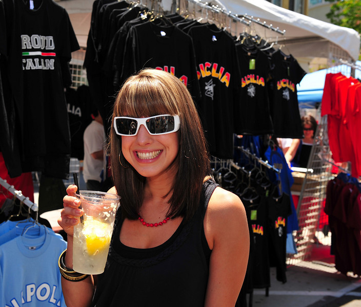 The Sicilian Heritage in San Diego is alive and well, judging from brisk T-shirt sales at the Sicilian Festival.