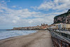 Cefalu - early morning beach scene with the sky beginning to clear a little.