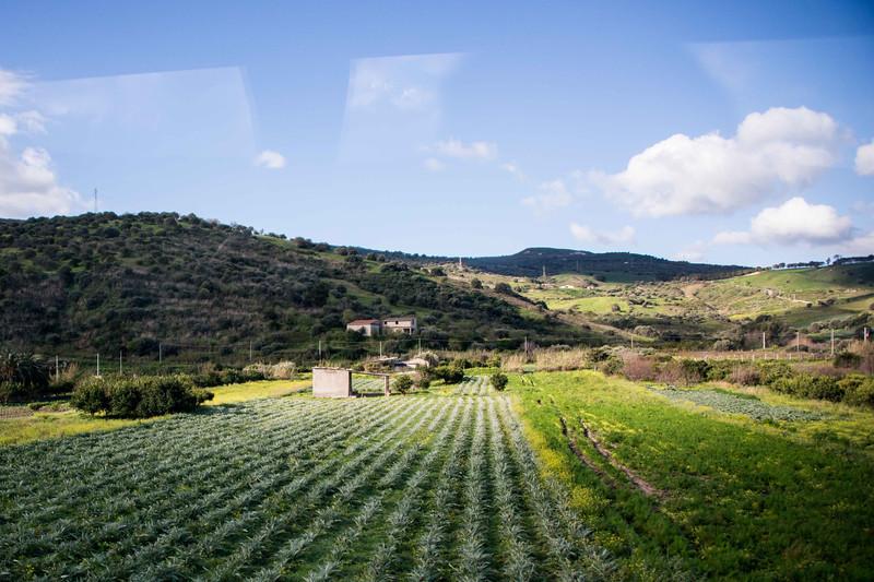 Countryside between Cefalu and Taormina.