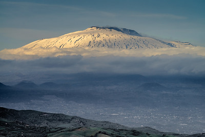 Last light on Mt Etna