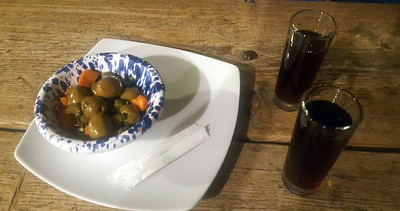 sicilian amaro with olives, celery & carrot.  lots of amari here, all of which i've never heard of.