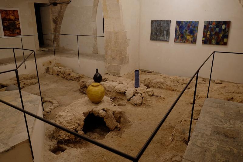 Noto art gallery underground, with ruins intact