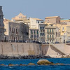 Our hotel in Sicily and the beach where I first swam the Mediterranean