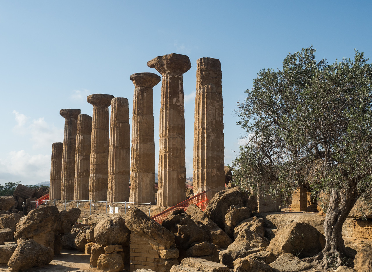 The temple of Heracles (Hercules)