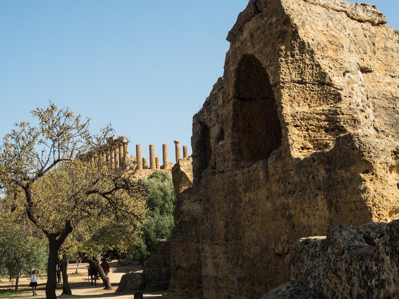 The temple of Juno (Hera Lakinia)  in background