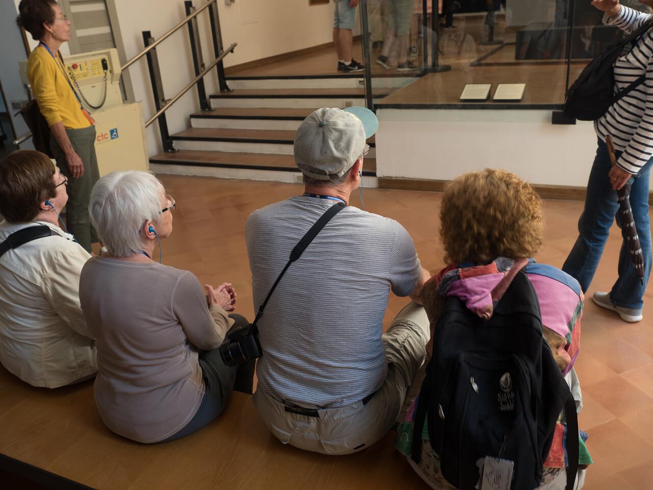 Kathy, Eleanor, Saul and Judi listen intently...