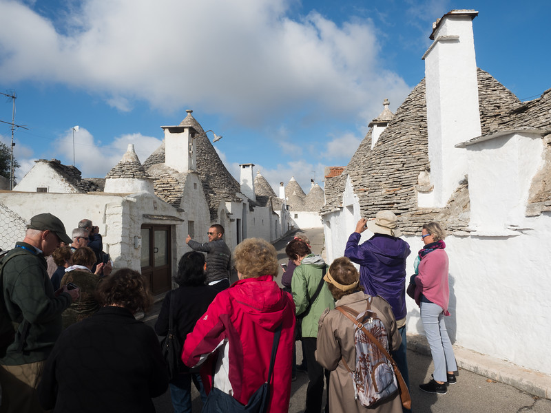 Here's the Trulli, dwellings built with removable stone roofs to avoid taxes