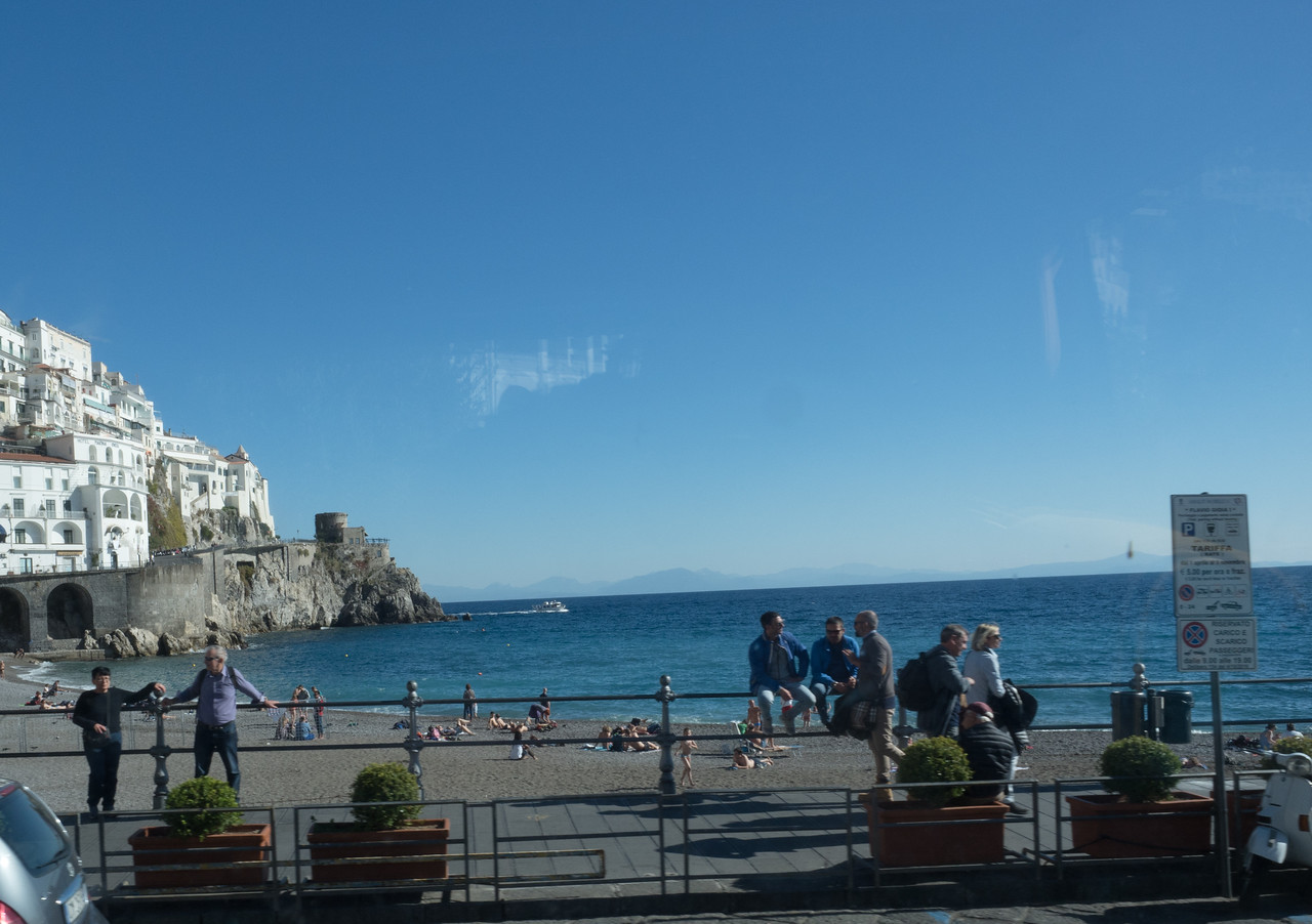 The Amalfi beach