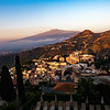 Sunrise from Villa Angela, Taormina