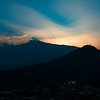 Sunset over Mt Etna