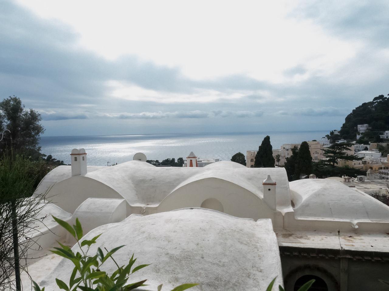 On the way to Villa Jovis, Capri