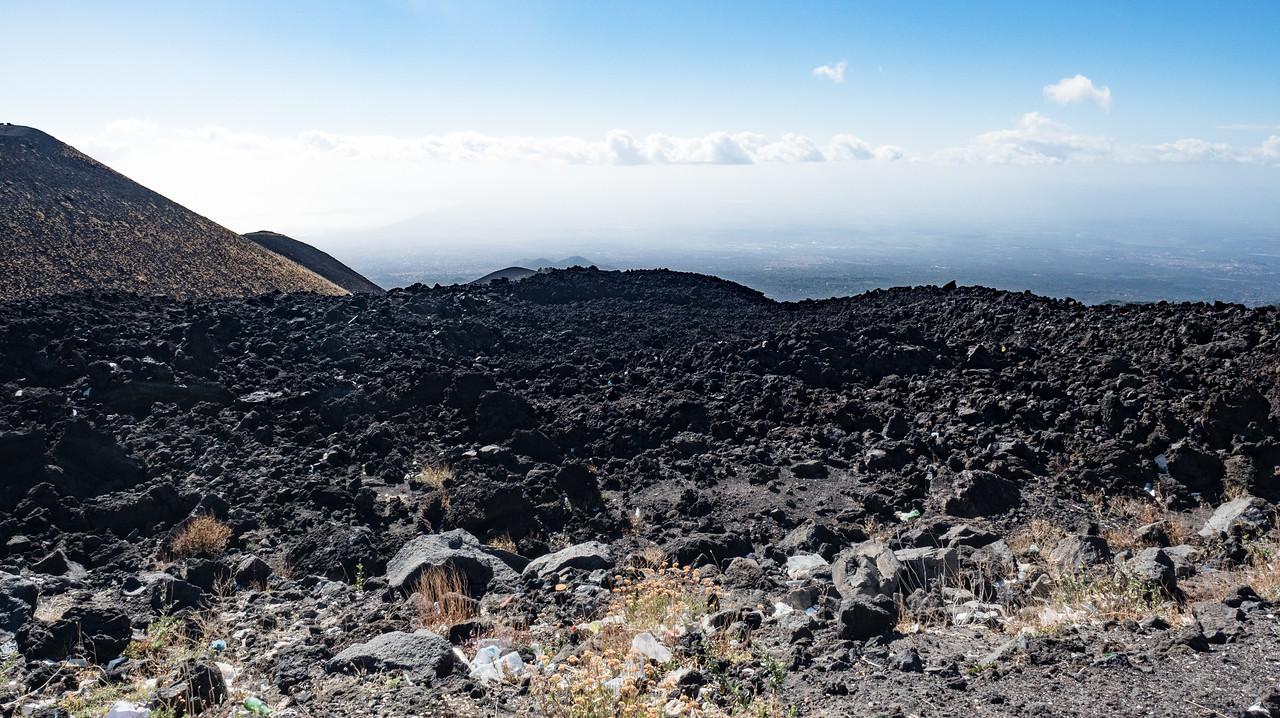 Lava field at Mt Etna