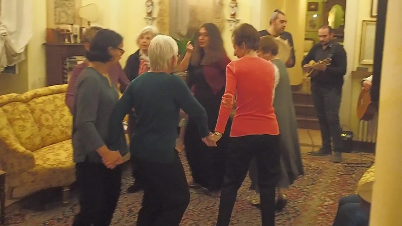 Dancing at Palazzo Mercurio -Video (click on button to view)