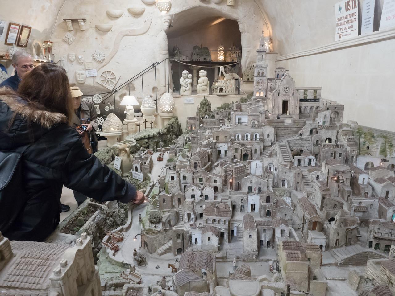 Artist's model of the Sassi in Matra