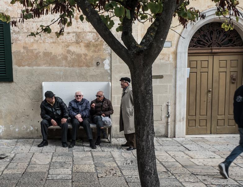 Bench mates in Matera