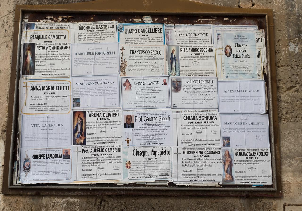 Bill board outside St. Giovanni Battista