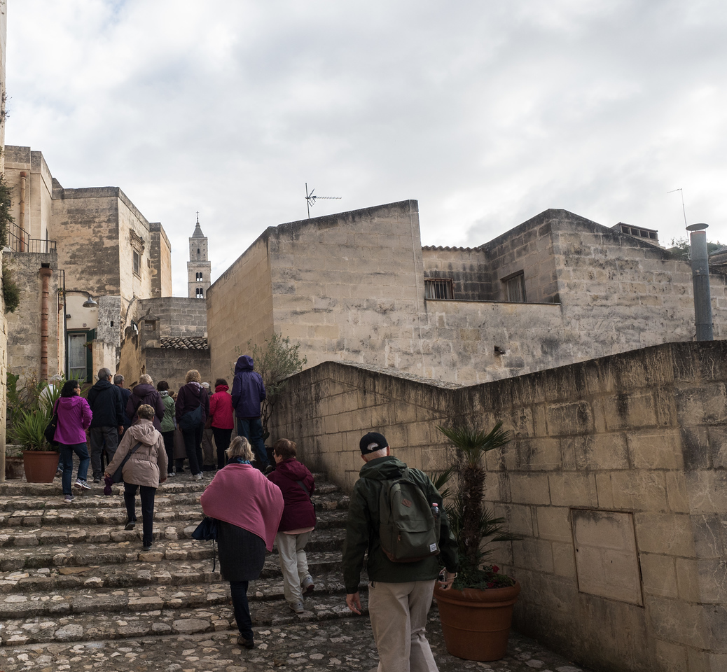Off on our tour of Matera