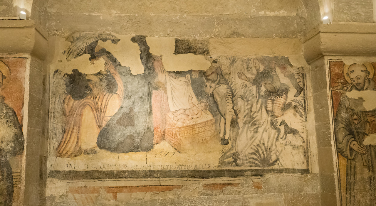 Frescos in crypt, Otranto Cathedral