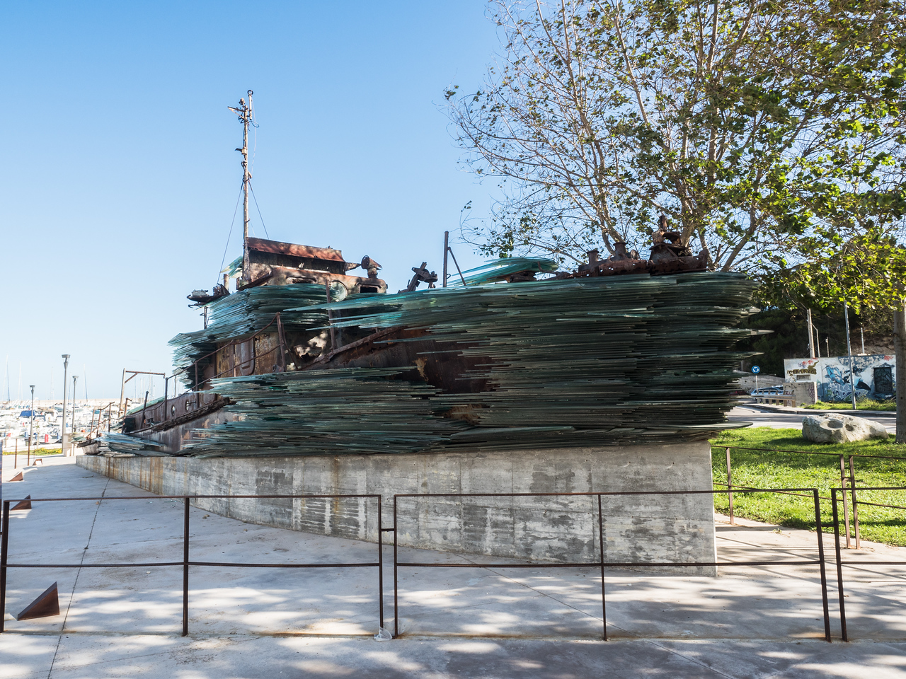Monument to a ship disaster in the Adriatic off Otranto