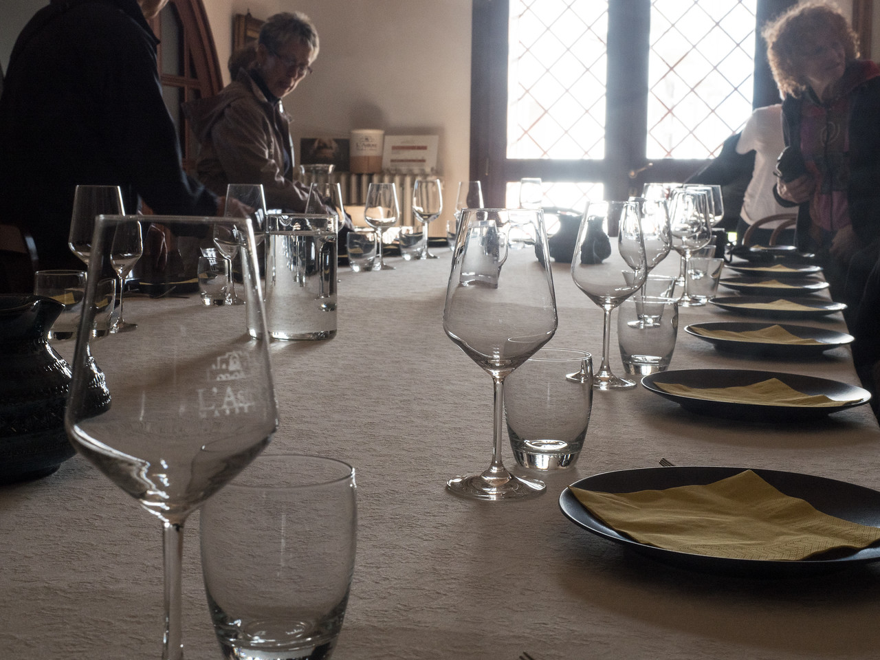 Table at L'Astore Winery