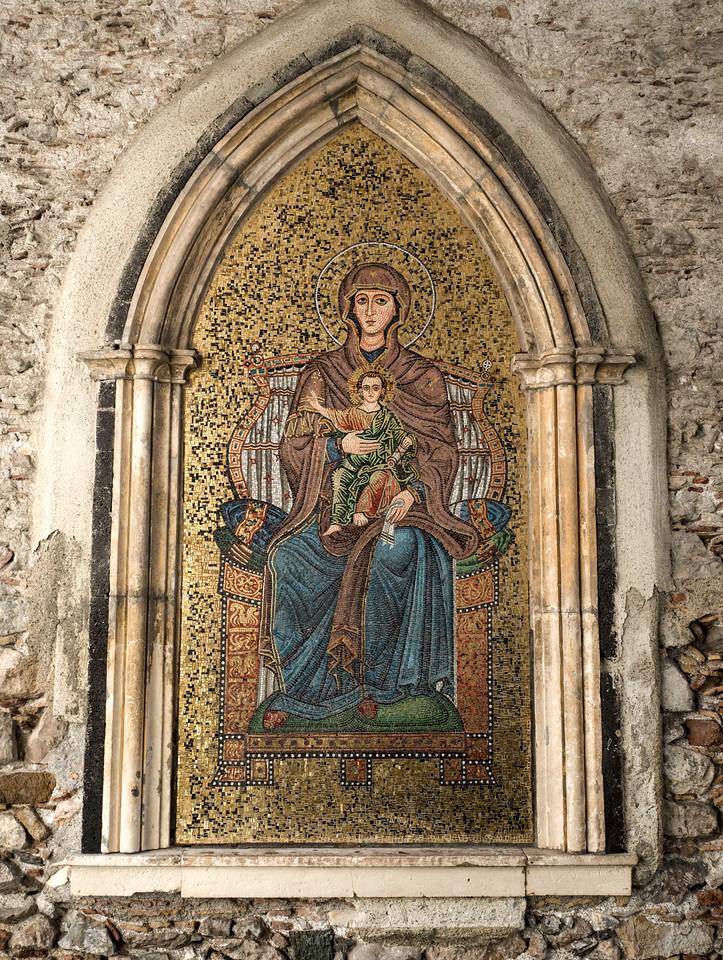 Taormina Mosaic, Madonna and Child