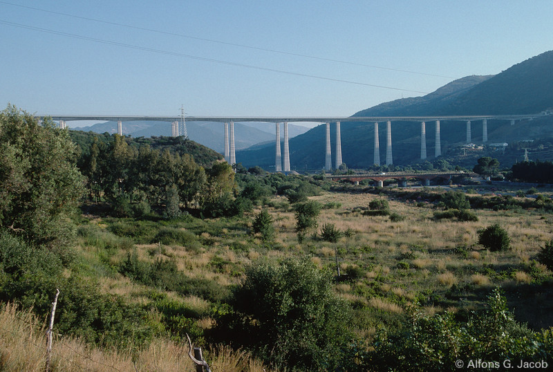 Motorway from Palermo to Cefalù, Sicily, Italy