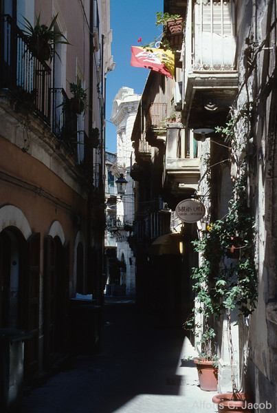 Ortigia, old part of Siracusa Town Centre, Sicily, Italy