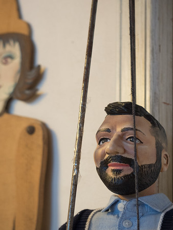 Old and New. Sicilian puppets. Ortygia (Siracusa)