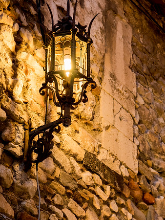 Streets of Taormina at night