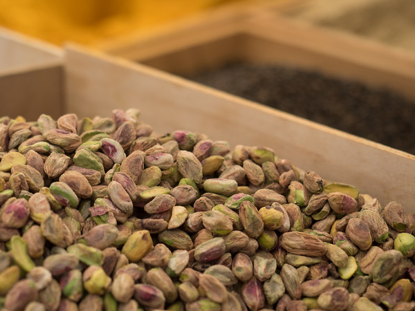 Pistachios for sale at a market in Ortygia (Siracusa)
